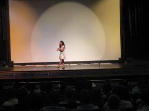 Victoria speaking at Hilton Head High School in HIlton Head Island, SC